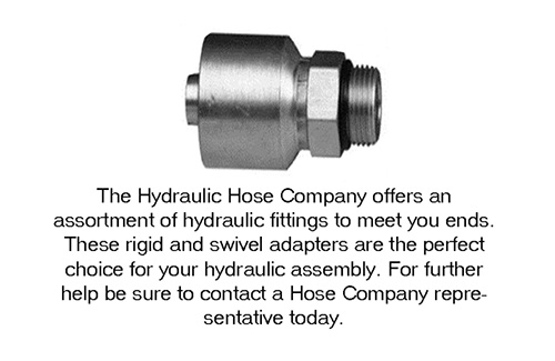 The hydraulic Hose Company offers and assortment of hydraulic fittings...